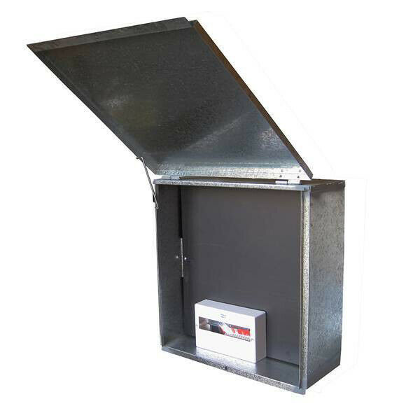 Brick Cut-In, Meter Box With Insulated Panel & 10 To 12 Pole DIN Enclosure (only) Image 1