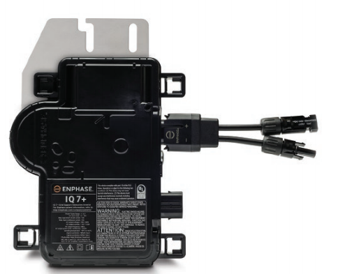 IQ7PLUS-72-2 Micro Inverter + IQ AC Connecting Cable Portrait Single Phase Image 1